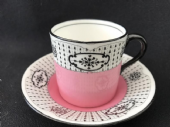 Beautiful Royal Doulton Pink espresso cup & saucer